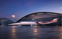 Futuro avión supersónico AS2 que se producirá en Florida, E.E.U.U.